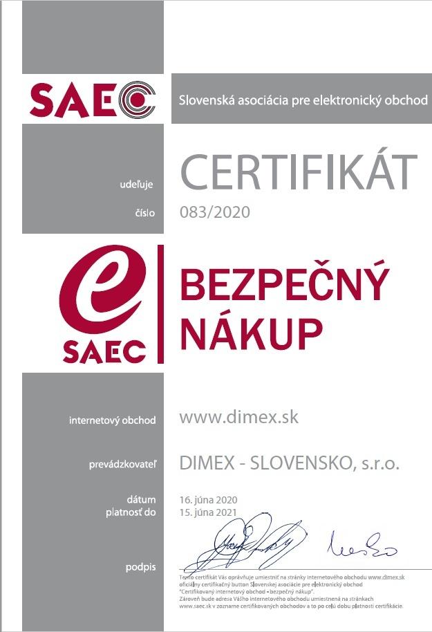 SAEC bezpečný nákup - dimex.sk