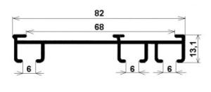 profil 3 drážkovej koľajnice