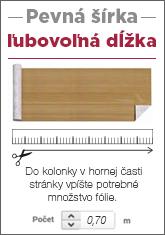 predaj fólie na ľubovoľnú dĺžku