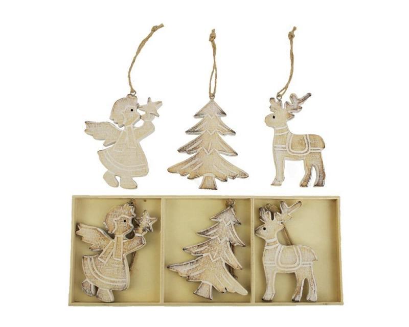 Vianočná dekorácia drevené 6 ks Kliknutím zobrazíte detail obrázku. 2e6fb47dd86