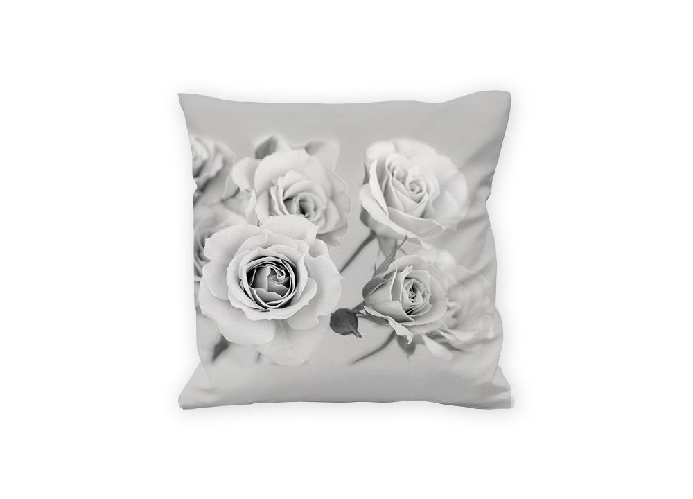10fad28da6df Vankúše - Ruže v šedom 45 x 45 cm